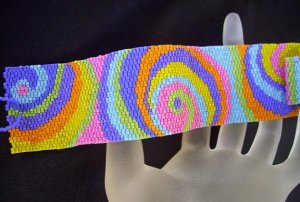 Handmade Candy Shop Peyote Bracelet Cuff
