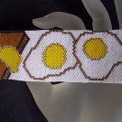 Handmade Beaded Breaksfast Sunrise Special Peyote Bracelet Cuff