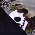 Handmade Beaded Day Of The Dead Peyote Bracelet Cuff