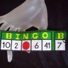 Handmade Beaded Bingo Peyote Bracelet Cuff
