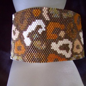 Handmade Beaded Out Of Africa Peyote Bracelet Cuff