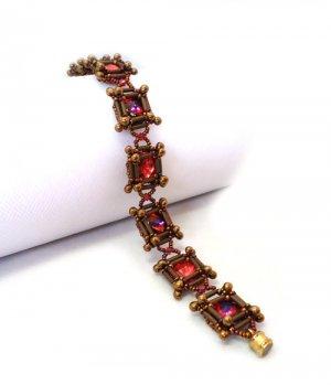 Handmade Beaded Bugle Square Bracelet