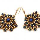 Handmade Beaded Ladies Fan Earrings- any color