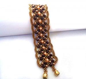 Handmade Beaded Maroon Bracelet