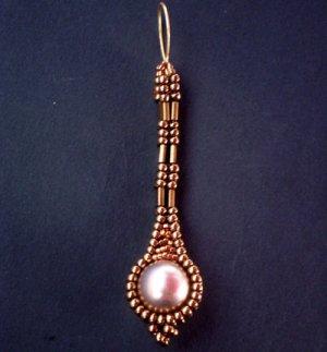 Handmade Beaded Long Pearly Tila Earrings