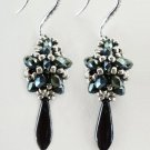 Handmade Beaded Faceted Blue Earring
