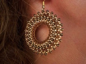 Handmade Beaded Wheel Earrings