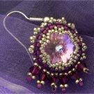 Handmade Beaded Rivoli Star Earrings