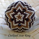 Handmade Beaded Cocktail Star Ring