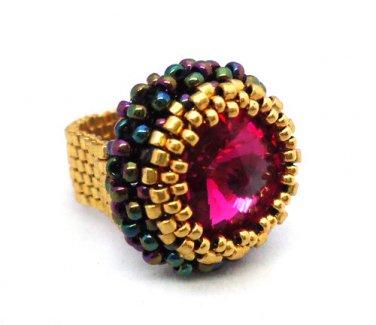 Handmade Beaded Cronus Ring