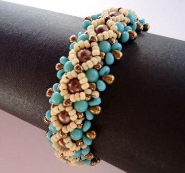 Handmade Beaded Ojo Bracelet