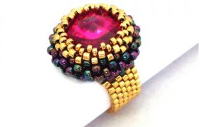 Handmade Beaded Cronus Ring