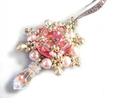 Handmade Rose Delight Beaded Earring's