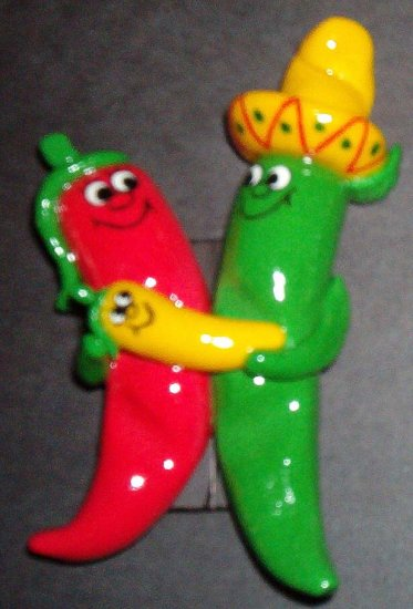 Red/Green Chile Family w/Yellow Baby