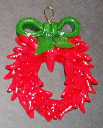 Red Chile Ristra Wreath (with Wire Loop)