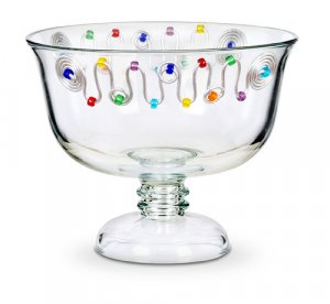 Pedestal Glass Bowl