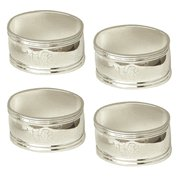 Engravable Silver Oval Napkin Rings