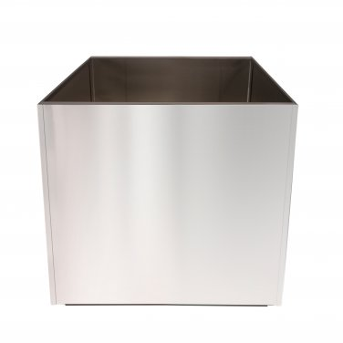 Stainless Steel 16 Inch Extra Large Planter Square