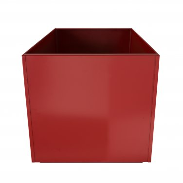 Red Square 20 Inch Metal Planter Box Extra Large Aluminum