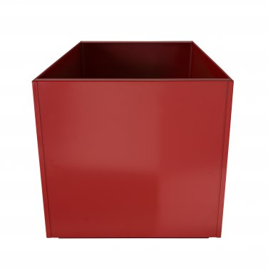Red Square 16 Inch Metal Planter Box Extra Large Aluminum