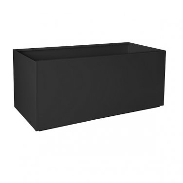 "Nice Rectangular Black Aluminum Planter - 16""x46""x16"""