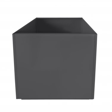 Charcoal Grey Square 20 Inch Metal Planter Box Extra Large Aluminum