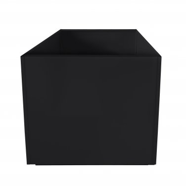 Black Square 16 Inch Metal Planter Box Extra Large Aluminum