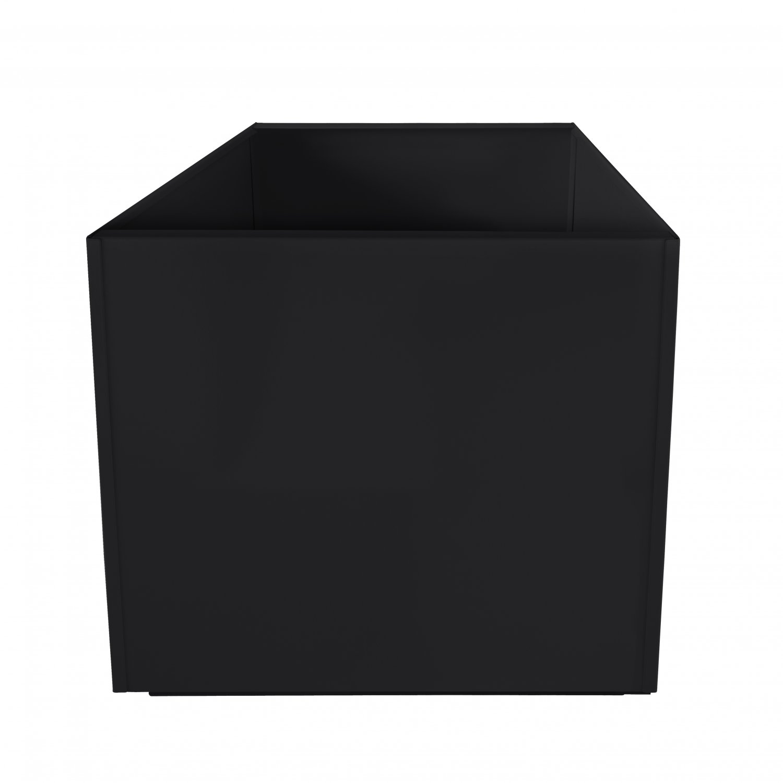 Black Square 20 Inch Metal Planter Box Extra Large Aluminum