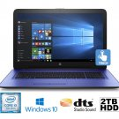 "HP Pavilion 17-X102DS 17.3"" i3-7100U 2.3GHz 2TB 8GB DVDRW Touchscreen Laptop"