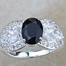 Sterling Silver Black Onyx Ring  Size 6.5 Free Shipping