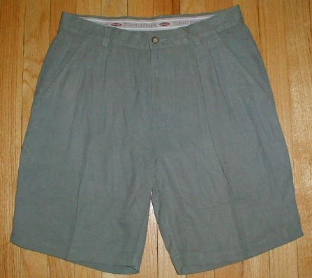TOMMY BAHAMA 100% Silk Shorts Mens Sz 32 with TB LOGO --MAKE AN OFFER!!