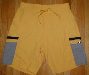 EDDIE BAUER Mens Cargo Swim Trunks Board Shorts Sz 34 --MAKE AN OFFER!!