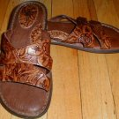 BORN 2 Strap Sandal Brown Leather Size Ladies 7 EUR 38 NEW --MAKE AN OFFER!!