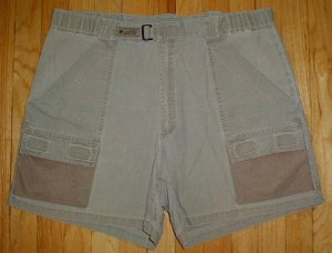COLUMBIA PFG Cargo Performance Fishing Shorts Mens Size L Large --MAKE AN OFFER!!