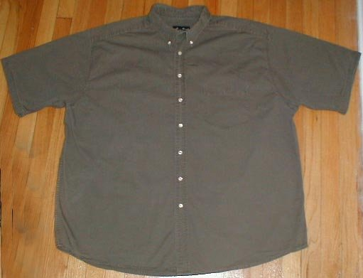 EDDIE BAUER Short Sleeved Button Front Shirt Mens 3XLT XXXL TALL --Make me an offer!!