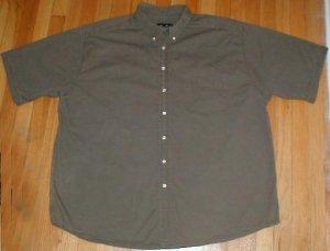 EDDIE BAUER Short Sleeved Button Front Shirt Mens 3XLT XXXL TALL --Make me an offer!!