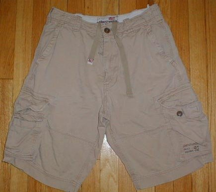 ABERCROMBIE Khaki Cargo Shorts Boys Sz 14 16 --Make me an offer!!