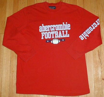 ABERCROMBIE Long Sleeved FOOTBALL T Tee Shirt Boys Sz XL --Make me an offer!!