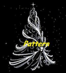 Christmas Tree #2. Cross Stitch Pattern. PDF Files.
