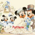Mickey & Minnie Mouse Wedding. Cross Stitch Pattern. PDF Files.
