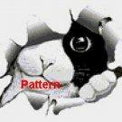 The Black and White Cat. Cross Stitch Pattern. PDF Files.