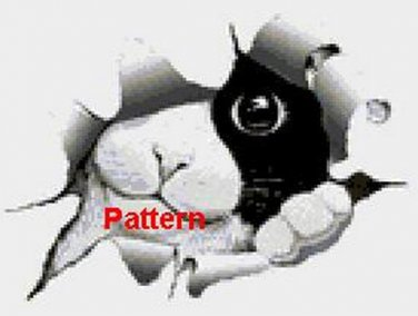 The Black and White Cat. Cross Stitch Pattern. PDF Files.