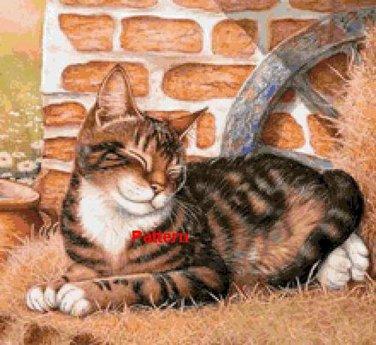 Happy cat. Cross Stitch Pattern. PDF Files.