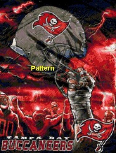 Tampa Bay Buccaneers Helmet #1. Cross Stitch Pattern. PDF Files.