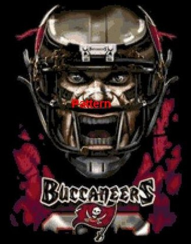 Tampa Bay Buccaneers Mascot #2. Cross Stitch Pattern. PDF Files.