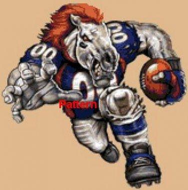 Denver Broncos Mascot #3. Cross Stitch Pattern. PDF Files.