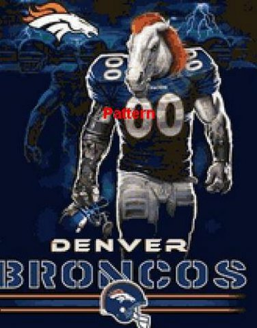 Denver Broncos Mascot #4. Cross Stitch Pattern. PDF Files.