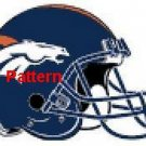 Denver Broncos Helmet #3. Cross Stitch Pattern. PDF Files.