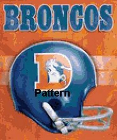 Denver Broncos Retro Helmet. Cross Stitch Pattern. PDF Files.