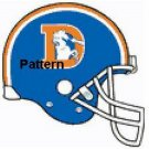Denver Broncos Old Helmet. Cross Stitch Pattern. PDF Files.
